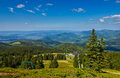 View from trail to the pilsko peak from beskidy mountains poland Stock Photos