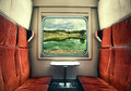 View from the Train Window Royalty Free Stock Photo