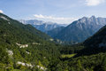 View from triglav the highest point in slovenia Royalty Free Stock Photo