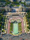 View of trocadero from eiffel tower paris france Stock Photos