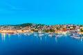 View of Trogir at night Royalty Free Stock Photo