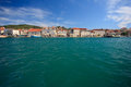 View on trogir torgir famous city adriatic harbour Royalty Free Stock Photography