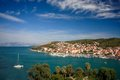 View on trogir torgir famous city adriatic harbour Royalty Free Stock Image