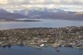 View of tromso aerial norway Royalty Free Stock Photo