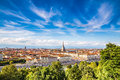 View of turin city centre turin italy during summer day europe Stock Photos