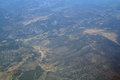 View of turkey from the plane Royalty Free Stock Photo