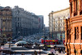 View on tverskaya street and part of manezhnaya square Stock Photo