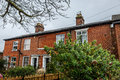 View of two typical English houses, Royalty Free Stock Photo