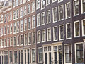 View at typical dutch houses in amsterdam the netherlands Royalty Free Stock Image