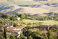 View of typical tuscany landscape in summer italy Royalty Free Stock Image