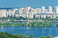 View of Ukrainian capital city Kiev Stock Photos