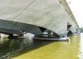 View under esplanade bridge singapore a Stock Photos