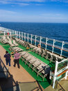 View from upper deck of the cruise ship