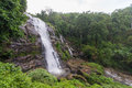 View of Vachiratharn waterfall Royalty Free Stock Photo