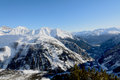 View of valdigne high aosta valley north italy Royalty Free Stock Photography