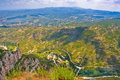 View of valley from the monastery of montserrat catalonia spain height of about m above sea level l Stock Photography