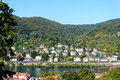 View of the valley of the river Neckar in Heidelberg, Germany Royalty Free Stock Photo