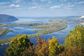 View on the valley of Volga river Royalty Free Stock Photo