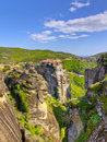View of Varlaam monastery, Meteora, Greece Royalty Free Stock Photos