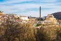 View of Veliko Tarnovo, Bulgaria and the monument of Assenevtsi Royalty Free Stock Photo