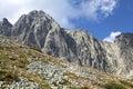 View from Velka Lomnicka veza - peak in High Tatra