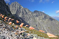 View from Velka Lomnicka veza - peak in High Tatra