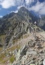 View from Velka Lomnicka veza - peak in High Tatras, Slovakia