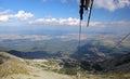 View from Velka Lomnicka veza - peak in High Tatras, Slovakia