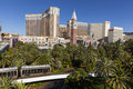 View of the venetian and harrah s in las vegas nv on june strip a record heat wave scorches city sending many to Stock Image