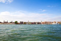 View on venice from the entry of the great channel Royalty Free Stock Photo