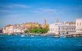 View of Venice from the sea, Veneto, Italy Royalty Free Stock Photo