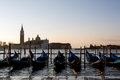 View in venice on sunrise with san giorgio maggiore italy Royalty Free Stock Image