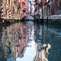 View of venice waterways italy Royalty Free Stock Photos