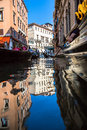View of venice waterways italy Royalty Free Stock Photo