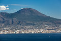 View of the Vesuvius mountain Royalty Free Stock Photo
