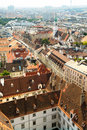 View of the vienna rooftops from stephansdom Stock Photos