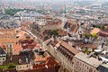 View of the vienna from stephansdom rooftops Royalty Free Stock Photo