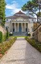 View at the villa capra la rotonda in vicenza Royalty Free Stock Photo