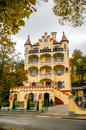 View on villa ritter facade in carlovy vary czech republic Royalty Free Stock Image