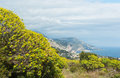View of villefranche sur mer from mont boron hill nice france Stock Images