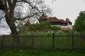 View of Viscri fortified church castle, Transylvania, Romania, Royalty Free Stock Photo