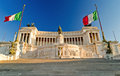 View of the Vittoriano building on the Piazza Venezia, Stock Photos