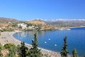 View of Vlicha Bay, Lindos. Rhodes, Greece, Europe. Royalty Free Stock Photo