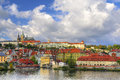 View of Vltava river Stock Image