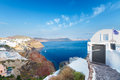 View of volcano caldera, Santorini Royalty Free Stock Photo