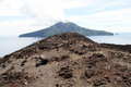View from volcano slope of krakatau in indonesia Stock Image