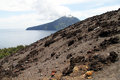 View from volcano slope of krakatau in indonesia Stock Photo