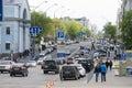 View on Volodymyrska street, Kyiv, Ukraine