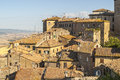 View of volterra and landscape pisa tuscany italy at summer Stock Photography