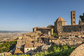 View of volterra and landscape pisa tuscany italy at summer Royalty Free Stock Photos